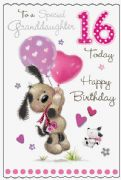 Granddaughter 16th Birthday  Fudge & Friends Card